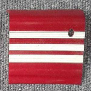 stepnosing karet merah garis putih