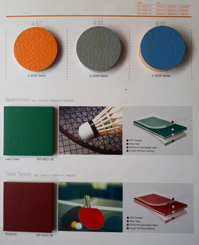 Jual Lantai Vinyl Olahraga LG Rexcourt